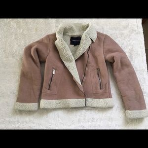 Limited Too pink jacket with fake fur trim